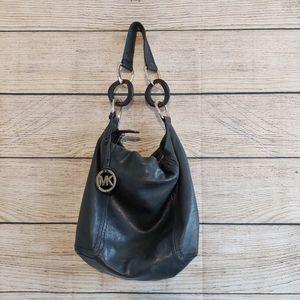 Michael Kors Black Soft Leather Hobo Bag